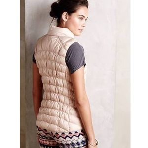 NWOT Anthropologie Pure + Good Gold Puffer Vest